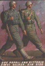 Cartolina militare, Due Popoli, una Vittoria, (in Italiano e Tedesco) viaggiata.