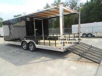 NEW 2021 8.5x24 8.5 x 24 Custom Utility Enclosed Cargo Trailer w/ Porch + Ramp