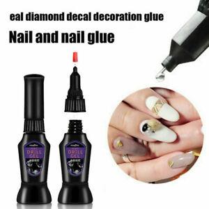 Extra Strong Nail Glue Nail Art Rhinestone Adhesive Gel Resin Gem Jewelry Decor