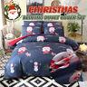 Christmas Tree Santa Claus Reindeer Snowman Quilt Duvet Cove Bedding Set Gift