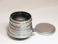 Jupiter-8 2/50mm #5608523 lens M39-mount Russian Sonnar.Early type.Excellent.CLA