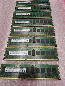 64GB KIT (8x 8GB) Micron MT18JSF1G72PZ-1G9E1HE PC3-14900R MEMORY MODULE