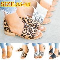Women Block Mid Heel Peep Toe Boots Zipper Chunky Mule Ankle Booties Shoes Size