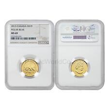 Canada 2013 Polar Bear $10 1/4 oz Gold NGC MS69