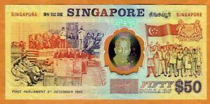 Singapore, 50 Dollars ND (1990) Polymer P-31 UNC > Commemorative