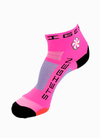 Steigen Fluro Pink Quarter Length Performance Running and Cycling Socks