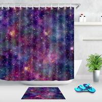 Galaxy Cosmos Shower Curtain Set for Bathroom 180Cm Bathroom Accessories Mat Rug