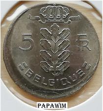 5 Fr. 1975 Belgique. Boudewijn I. Excentrisch/Misslag/Error/Fautée/fehlprägung.
