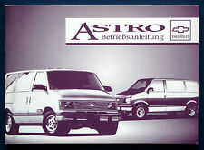 Owner's Manual * Betriebsanleitung 1994 Chevrolet Astro Van  (D)