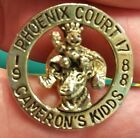 ROYAL ORDER OF JESTERS pin, Phoenix Arizona ROJ Court 17, 1988, Camerons Kidds