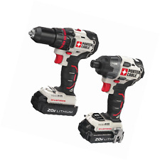 PORTER-CABLE PCCK618L2 20V MAX 2 -Tool Brushless Lithium Drill/Impact Driver Com