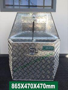 865x470x470 mm Aluminium Draw Bar Toolbox Trailer Ute Truck Camper alu box