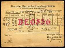 CARD  CARTE  QSL  radio amateur   ALLEMAGNE       1928  ( 426 )