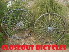 "26"" TWISTED SPOKE BICYCLE LOWRIDER CRUISER  CHOPPER BIKE WHEEL CHROME #7039-39"