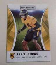 2016 PANINI ROOKIES AND STARS FOOTBALL #241 ARTIE BURNS ROOKIE CARD - STEELERS