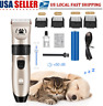 Pet Cat Dog Hair Clipper Trimmer Shaver Cordless Grooming Clipper Kit Low Noise