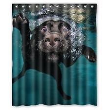 Popular Funny Lovely Labrador Dog Bathroom Shower Curtain Shower Rings Soft New