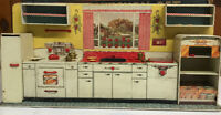Vintage Louis Marx 1950's Modern Kitchen Play Set w Original Box Incomplete!