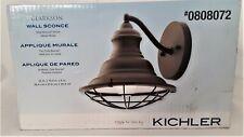 Kichler Clarkson 10-in W 1-Light Olde Bronze Rustic Wall Sconce