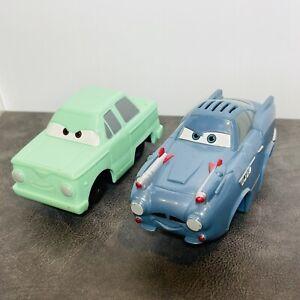 Lot Of 2 Fisher Price GeoTrax Cars 2 Movie Disney Pixar Car Vehicles Mint Blue