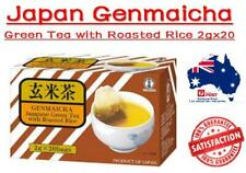 4 X Genmaicha Green Tea With Roasted Rice 20 Teabags Net 40g Japanese