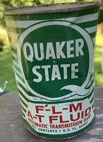 Vintage Quaker State FLM AT Fluid 1 Quart Motor Oil Can FULL