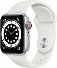 Apple Watch S6 - GPS/Cellular 40mm Aluminum Case w/ White Band - M02N3LL - New