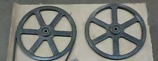 "BANDSAW WHEELS BANDWHEELS BAND WHEELS 19"" PAIR WITH BEARINGS BUILD YOUR OWN"
