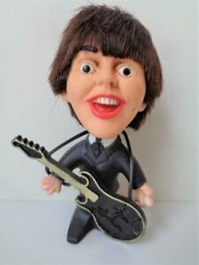 Vintage 1964 Remco Paul McCartney BEATLES Toy Doll Figure with Original Guitar
