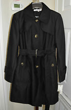 Kenneth Cole New York Women's Belted Black Coat Large Brand New With Tag