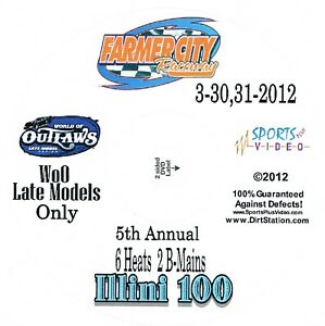 World Of Outlaws Late Models DVD From Farmer City Raceway 3-30+31-2012