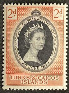 TURKS AND CAICOS Coronation Elizabeth II. 1953 QEII.MNH
