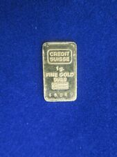Credit Suisse Gold One Gram Bar 999.9 - No Reserve Auction - Insured Shipping!