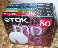 TDK MD 80 BLANK RECORDABLE DIGITAL AUDIO MINIDISC X 5 - NEW & SEALED