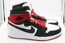 Air Jordan Retro 1 KO HI Size 10.5 Black Toe White Black Varsity Red Canvas