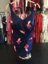 Vintage Roxanne Women's Swimsuit 1-Piece Blue Sz 18 40C Pinup Bombshell Baby