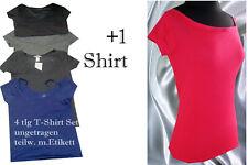 5tlg. T-Shirt Set Damen-T-Shirts Bekleidungspaket ungetrag. tw. Etikett  S+ M