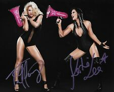 TIFFANY & KATIE LEA BURCHILL WWE DIVA SIGNED AUTOGRAPH 8X10 PHOTO W/ PROOF