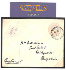 MS2024 1902 GB USED ABROAD Penny Pink Stationery *NEWCASTLE NATAL* CDS Boer War
