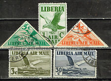 Liberia Fauna African Birds stamps 1939