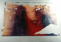 Framed Painted Emulsion Red Metal Wall Art Offset Plate Alt Photograph W/Text