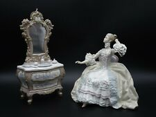 "Lladro ""Lady At Dressing Table"" Figurine ~ #1242 ~ Retired In 1978 ~ Cmv $2250"