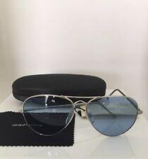0d7792cf8fc Vintage Giorgio Armani Sunglasses GA 615 Small Aviator C. Silver W  Blue  Lenses