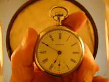 WALTHAM 18 SIZE POCKET WATCH OF 7 JEWELS  C 1900 RUNS