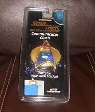 STAR TREK THE NEXT GENERATION COMMUNICATOR CLOCK 1997 RARE ~ NIP!