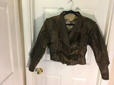 Vintage Vera Pelle Woman's italy Motorcycle Leather Jacket bomber rare