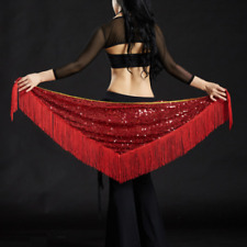 Belly Dance Costume Sequins Fringe Triangle Hip Scarf Belt New