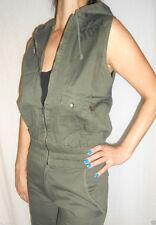 Zip Waist Length Denim Patternless Coats & Jackets for Women