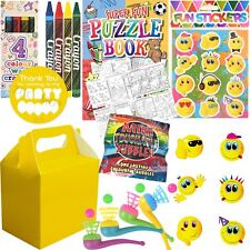 Pre Filled Unisex Party Bag Yellow Box Ready Made Loot Birthday Gift Bags Favors