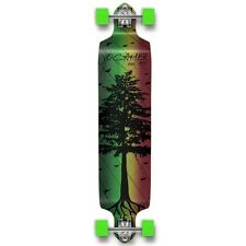 Yocaher Drop Down Longboard Complete - In the Pines : Rasta